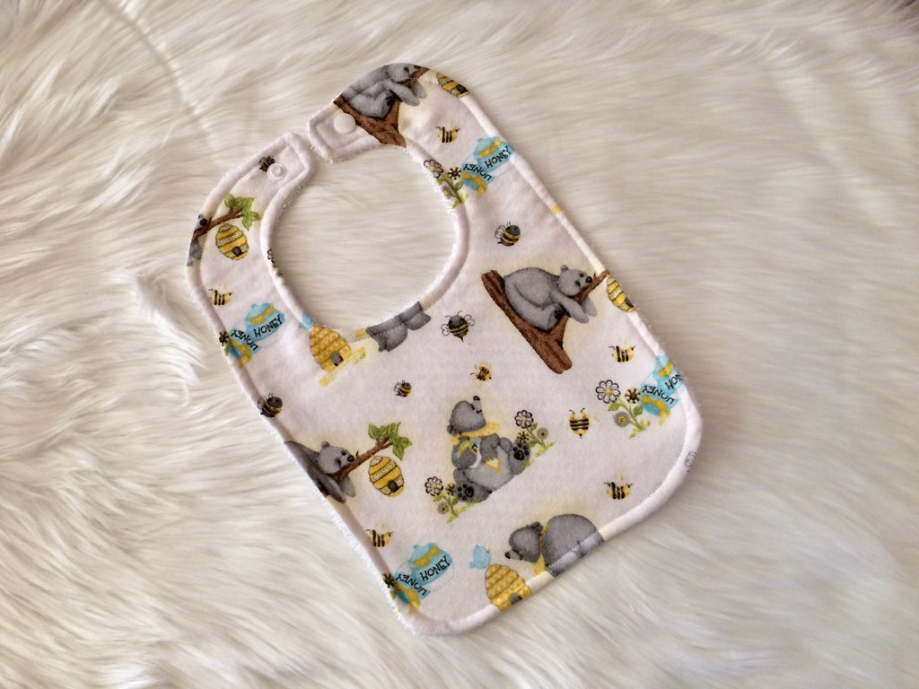 Honey Bear Baby Bib - Little Branches Boutique