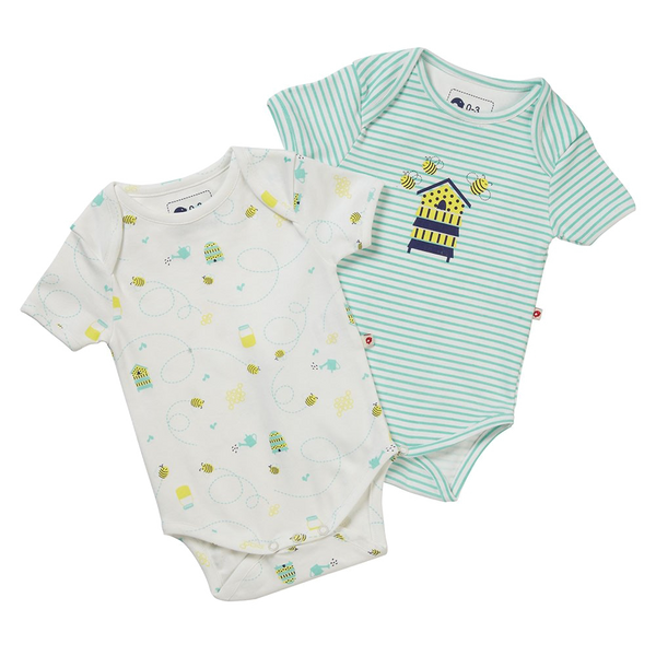 2 Pack Honey Bee Onesies - Little Branches Boutique