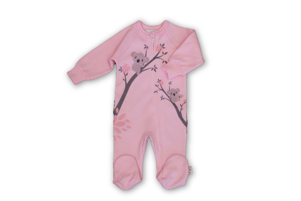 Pink Koala Onesie - Little Branches Boutique
