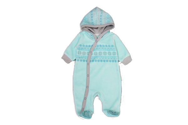 Fair Isle Aqua Onesie - Little Branches Boutique