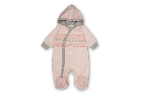 Fair Isle Pink Onesie - Little Branches Boutique