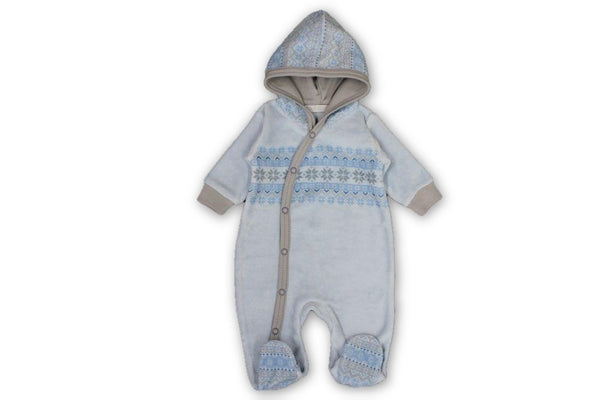 Fair Isle Blue Onesie - Little Branches Boutique