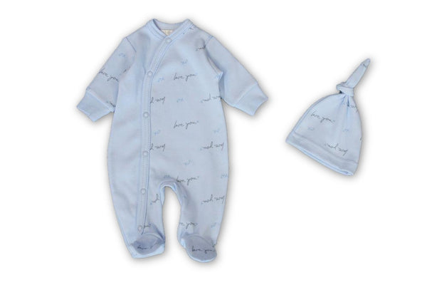 Love You Blue Onesie - Little Branches Boutique