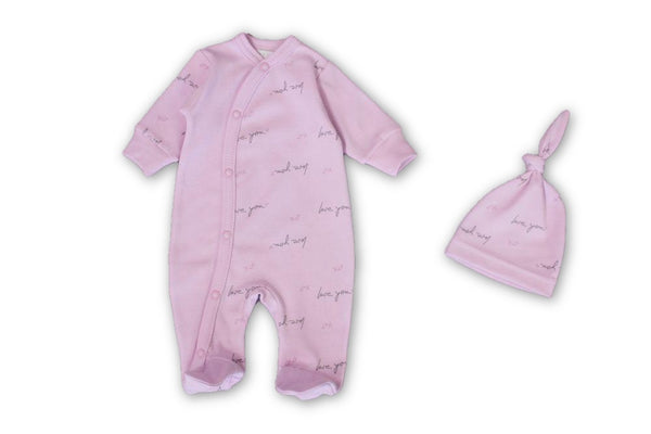 Love You Mauve Onesie - Little Branches Boutique