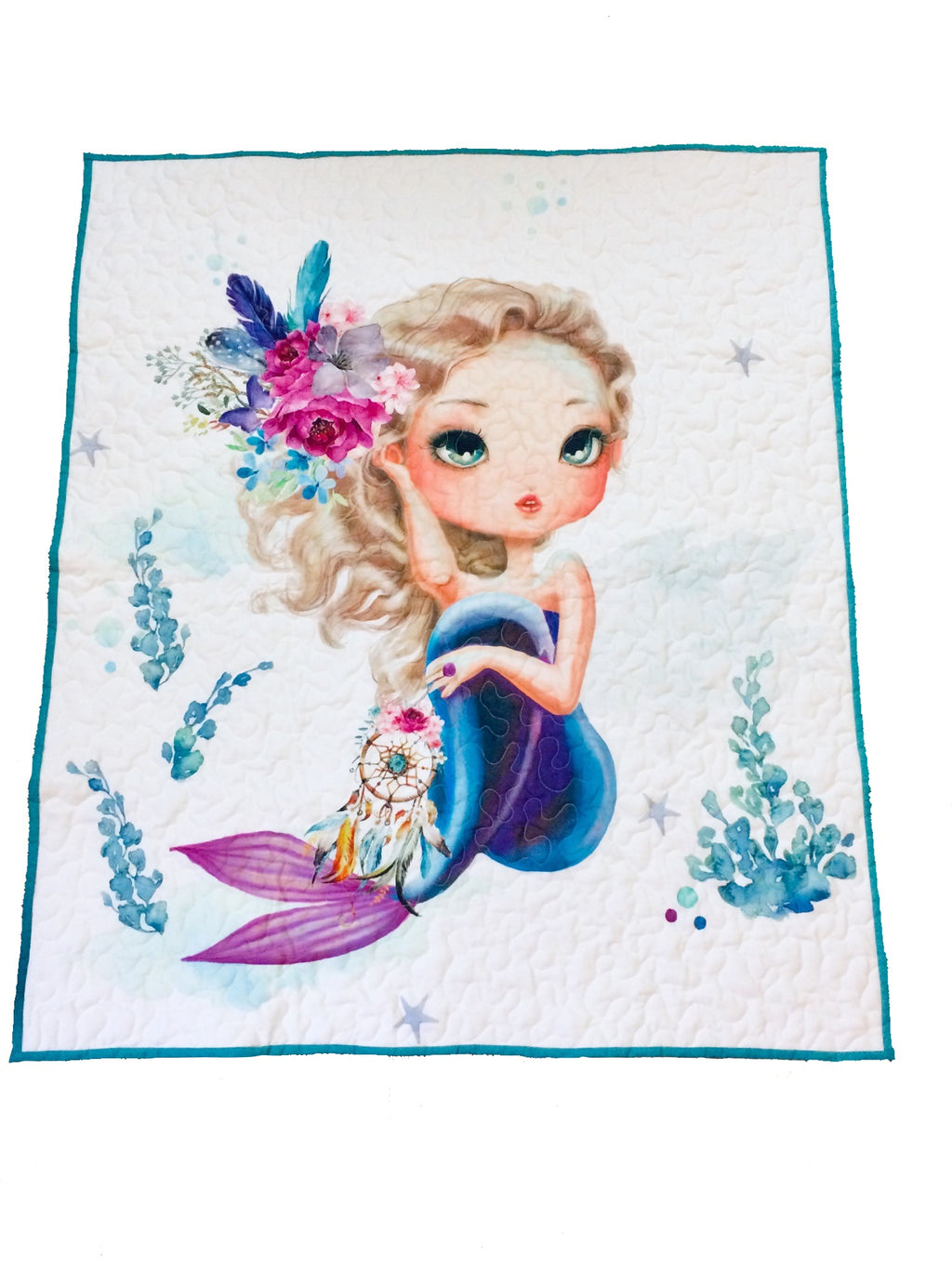 Boho Mermaid Baby Quilt - Little Branches Boutique