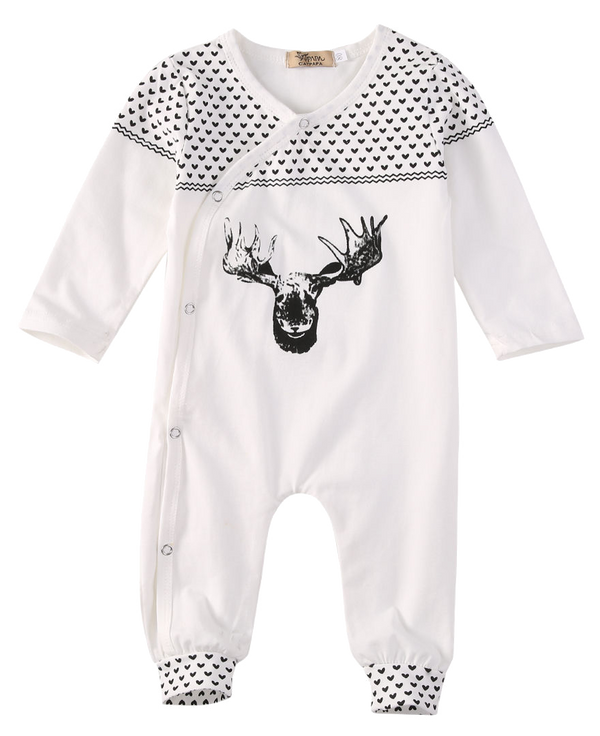 Moose Onesie - Little Branches Boutique
