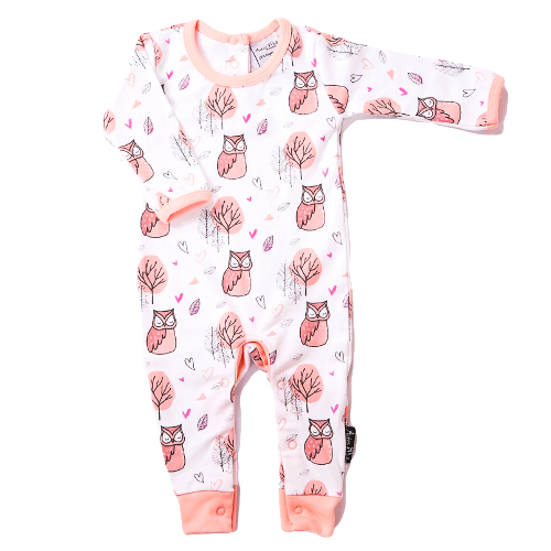 Woodland Owl Romper Coverall - Little Branches Boutique