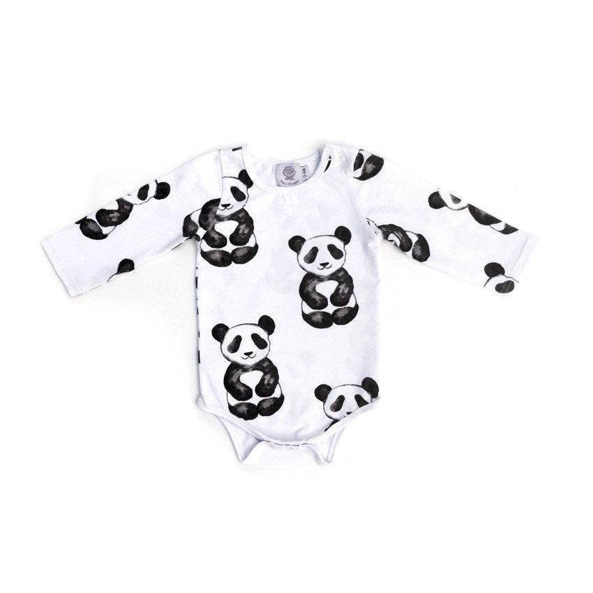 Panda Long Sleeved Onesie - Little Branches Boutique
