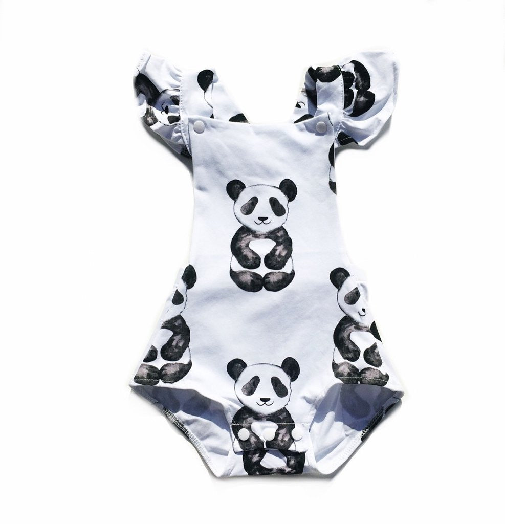 Panda Romper - Little Branches Boutique
