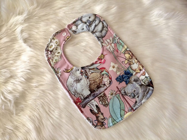 Pink Gumnut Adventures Baby Bib - Little Branches Boutique