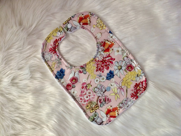 Pink Gumnut Babies & Friends Baby Bib - Little Branches Boutique