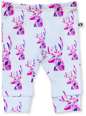 Pink Deer Leggings - Little Branches Boutique