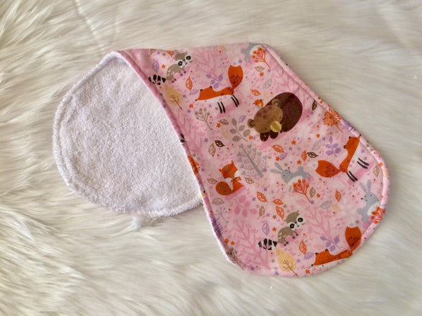Pink Woodland Baby Burp Cloth - Little Branches Boutique