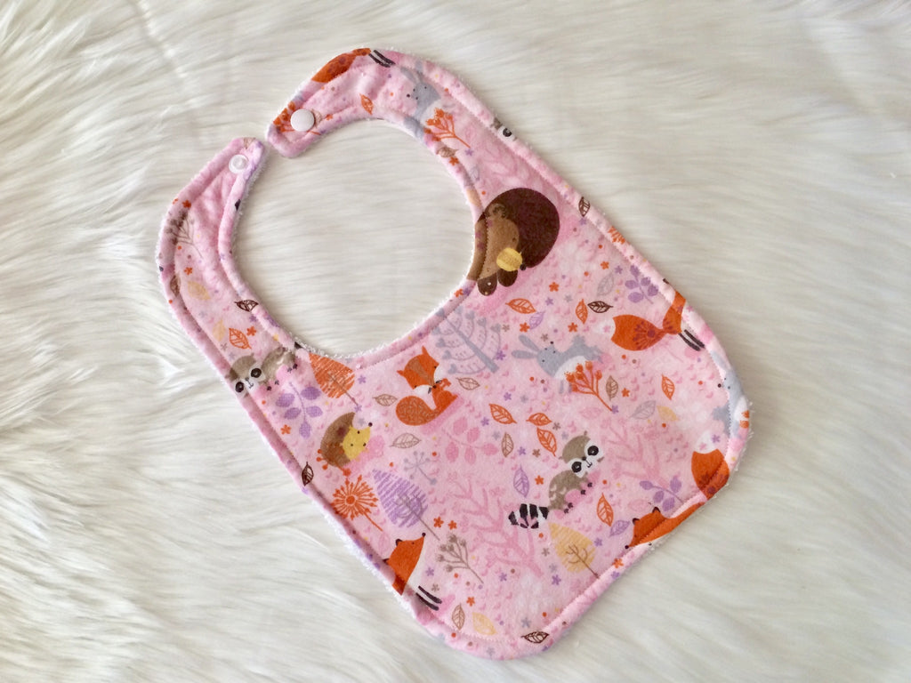 Pink Woodland Bib - Little Branches Boutique