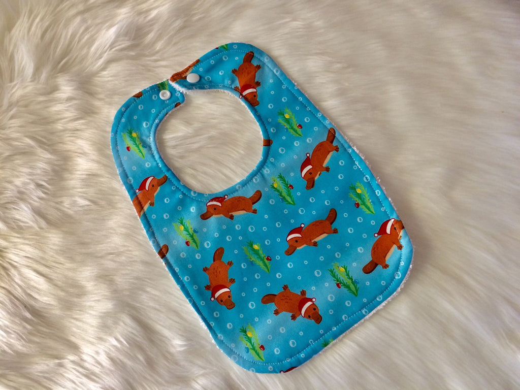 Christmas Platypus Baby Bib - Little Branches Boutique