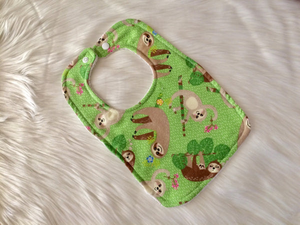 Sloth Bib - Little Branches Boutique