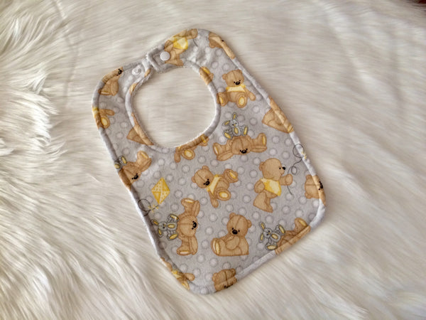 Teddy Bear Bib - Little Branches Boutique