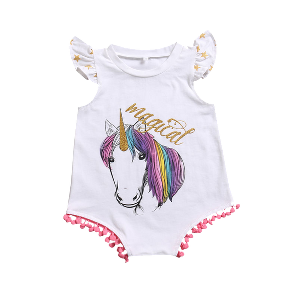 Magical Unicorn Romper - Little Branches Boutique