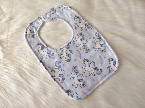Unicorn Baby Bib - Little Branches Boutique