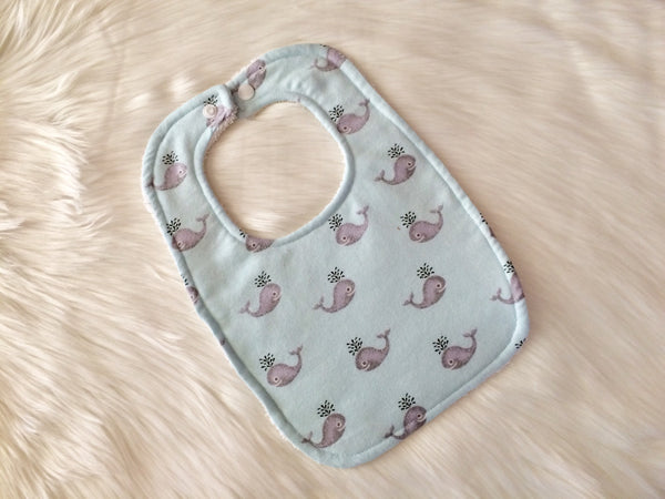 Blue Whale Bib - Little Branches Boutique