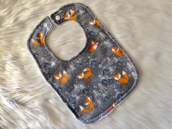 Winter Fox Baby Bib - Little Branches Boutique