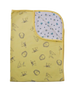 Yellow Woodland / White Honey Bee Swaddle Blanket - Little Branches Boutique