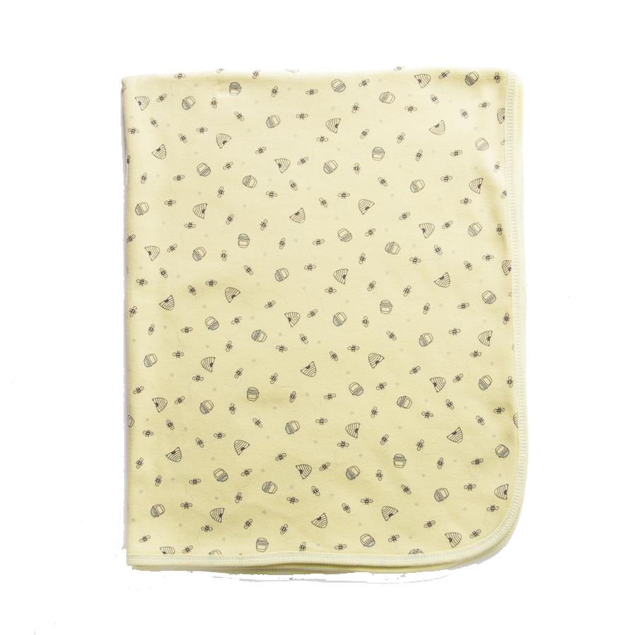 Yellow Honey Bee Swaddle Blanket - Little Branches Boutique