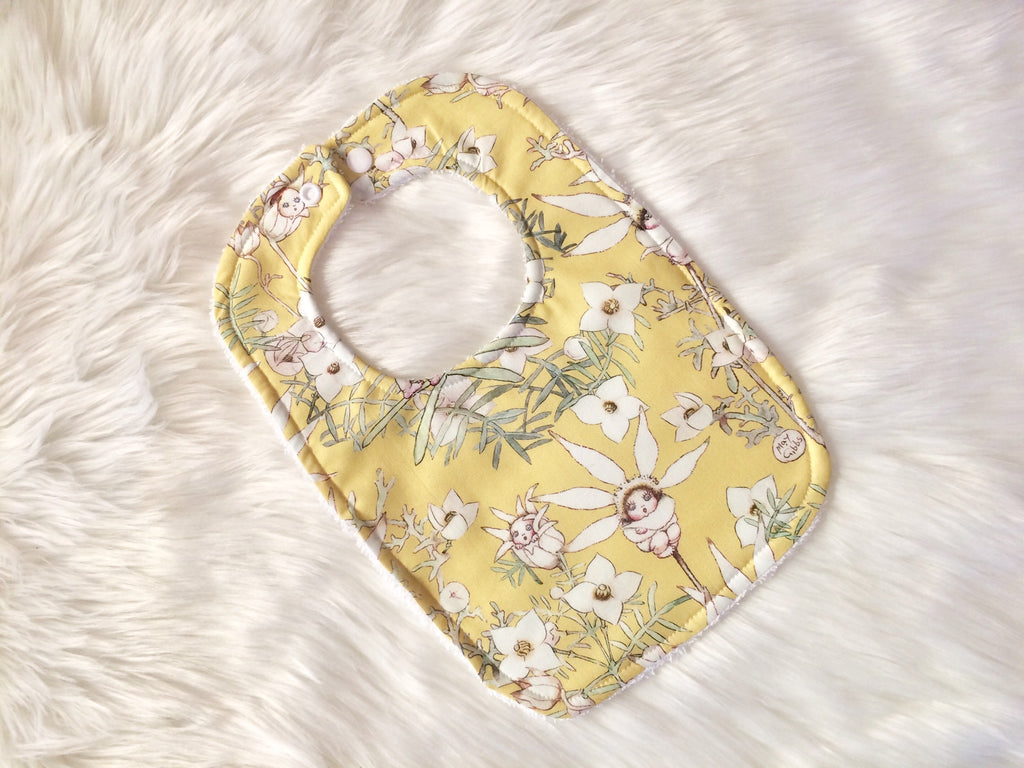 Yellow Flannel Babies Baby Bib - Little Branches Boutique