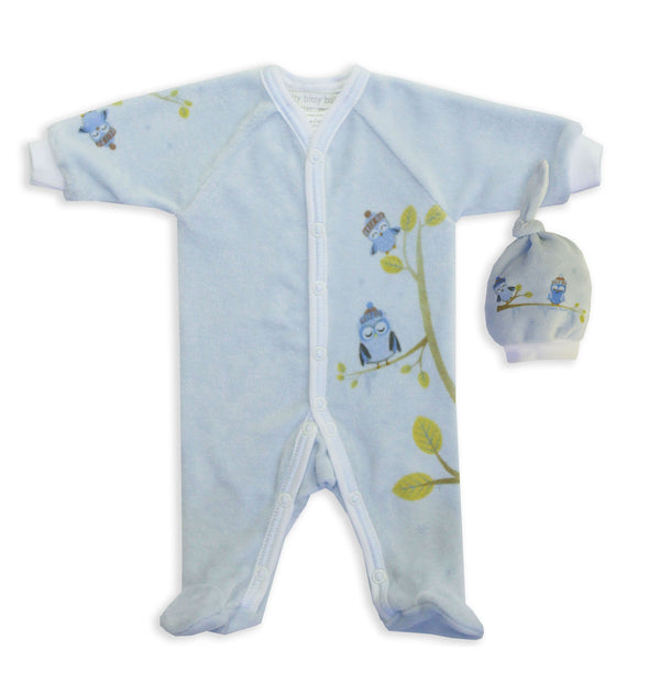 Blue Cozy Owls Onesie - Little Branches Boutique