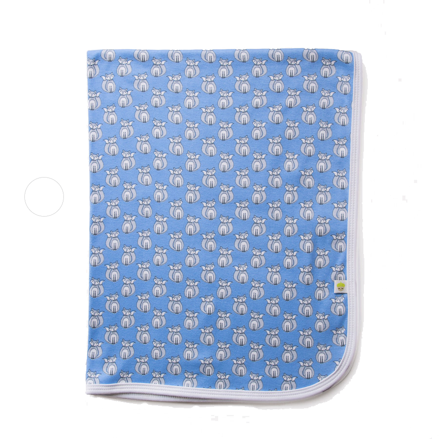 Blue Fox Swaddle Blanket - Little Branches Boutique