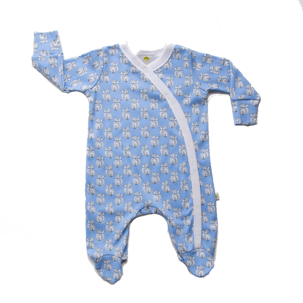 Blue Fox Onesie - Little Branches Boutique