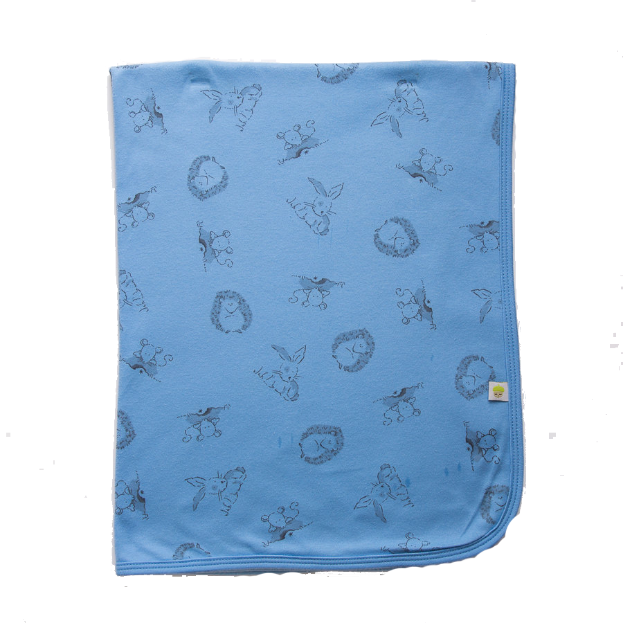 Blue Woodland Swaddle Blanket - Little Branches Boutique
