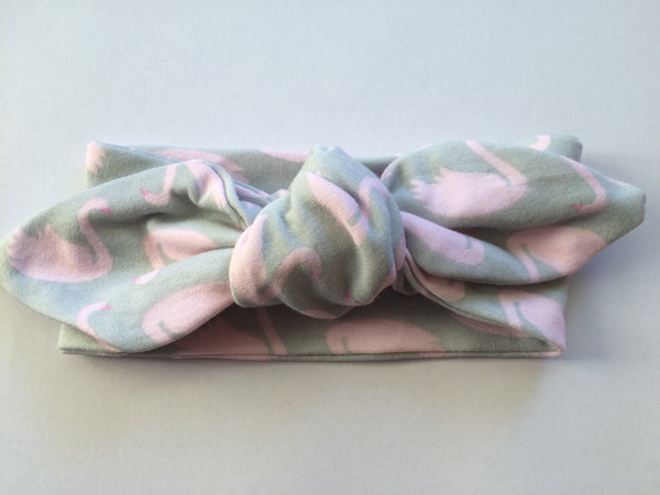 Grey Swan Top Knot Headband - Little Branches Boutique