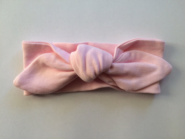 Pink Top Knot Headband - Little Branches Boutique