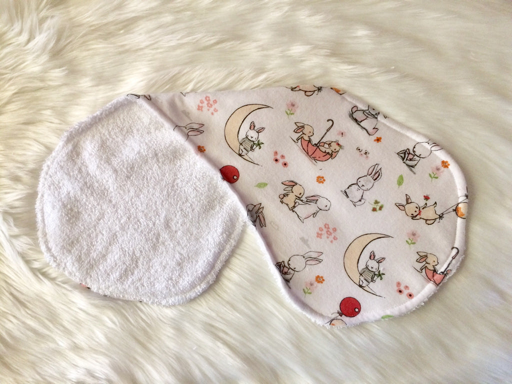 Bunny Frolics Burp Cloth - Little Branches Boutique