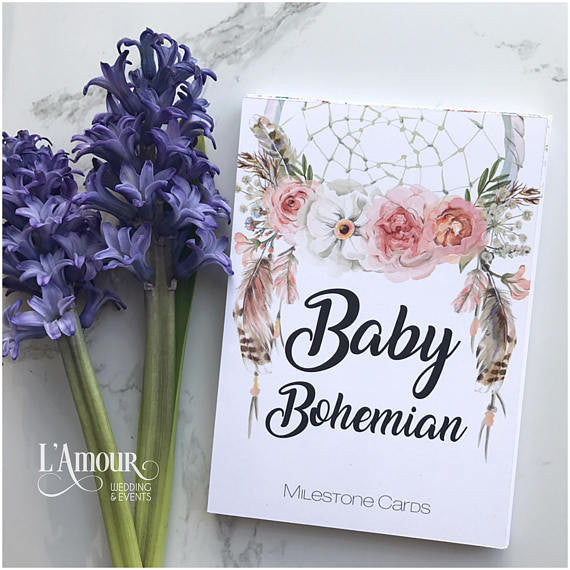 Bohemian Baby Milestone Cards - Little Branches Boutique