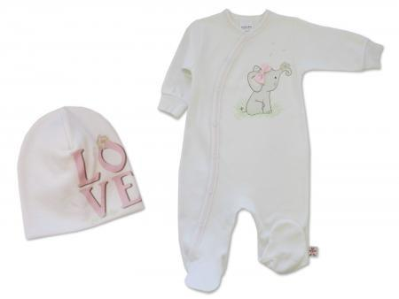 Pink Elephant Onesie - Little Branches Boutique
