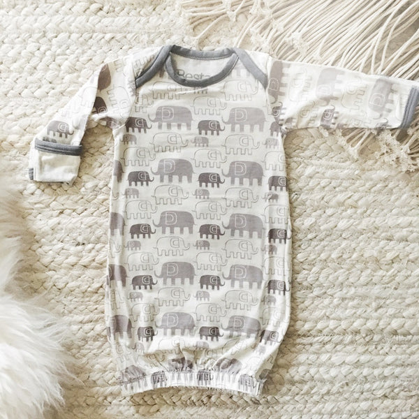 Grey Elephant Sleep Gown - Little Branches Boutique