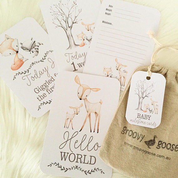 Woodland Milestone Cards - Little Branches Boutique