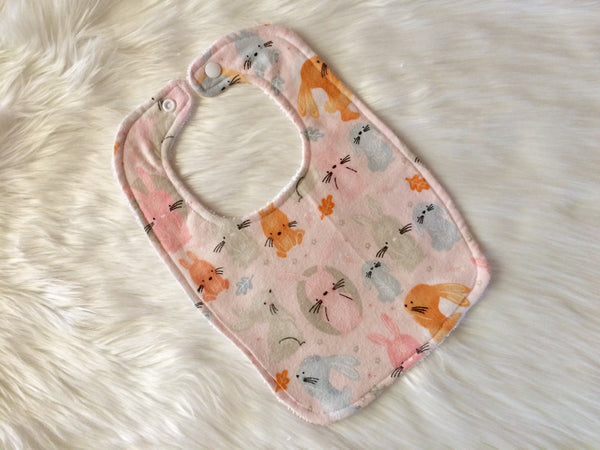 Pink Bunny Bib - Little Branches Boutique