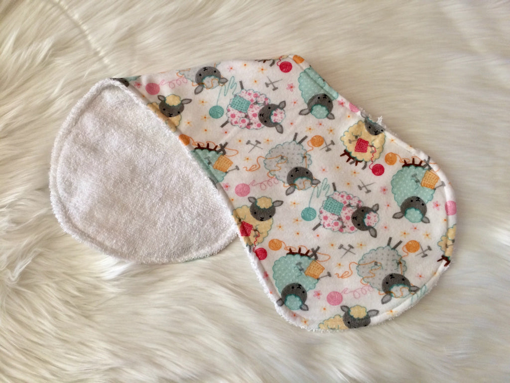 Knitting Sheep Burp Cloth - Little Branches Boutique