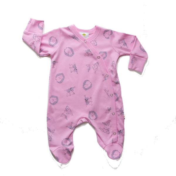 Pink Woodland Onesie - Little Branches Boutique