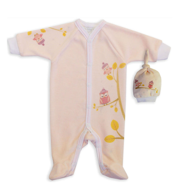 Pink Cozy Owls Onesie - Little Branches Boutique