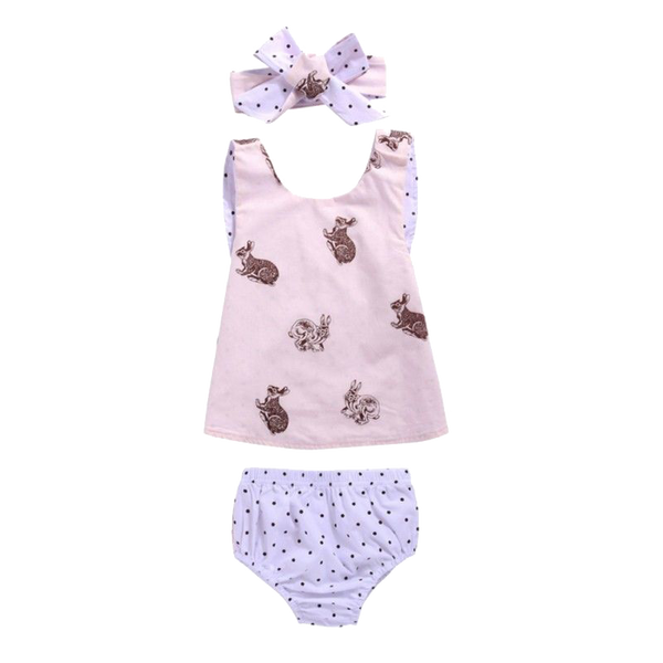 Pink Bunny 3 Piece Set - Little Branches Boutique