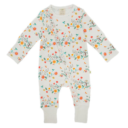 Rainbow Floral Onesie - Little Branches Boutique