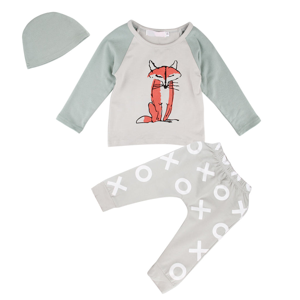 3 Piece Sitting Fox Set - Little Branches Boutique