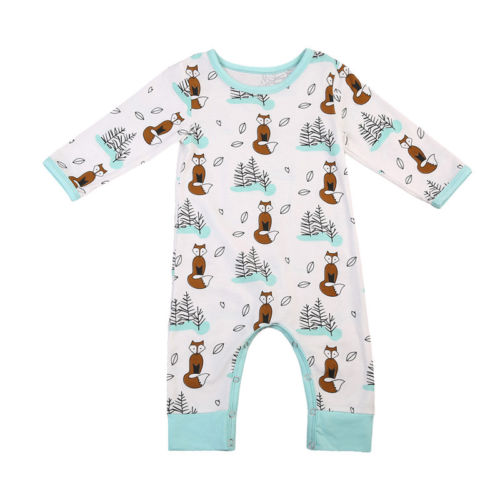 Fox Winter Wonderland Onesie - Little Branches Boutique