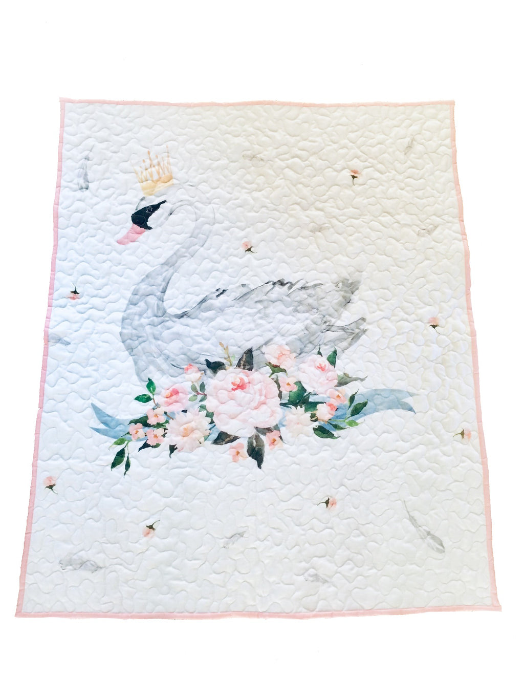 Swan Princess Baby Quilt - Little Branches Boutique