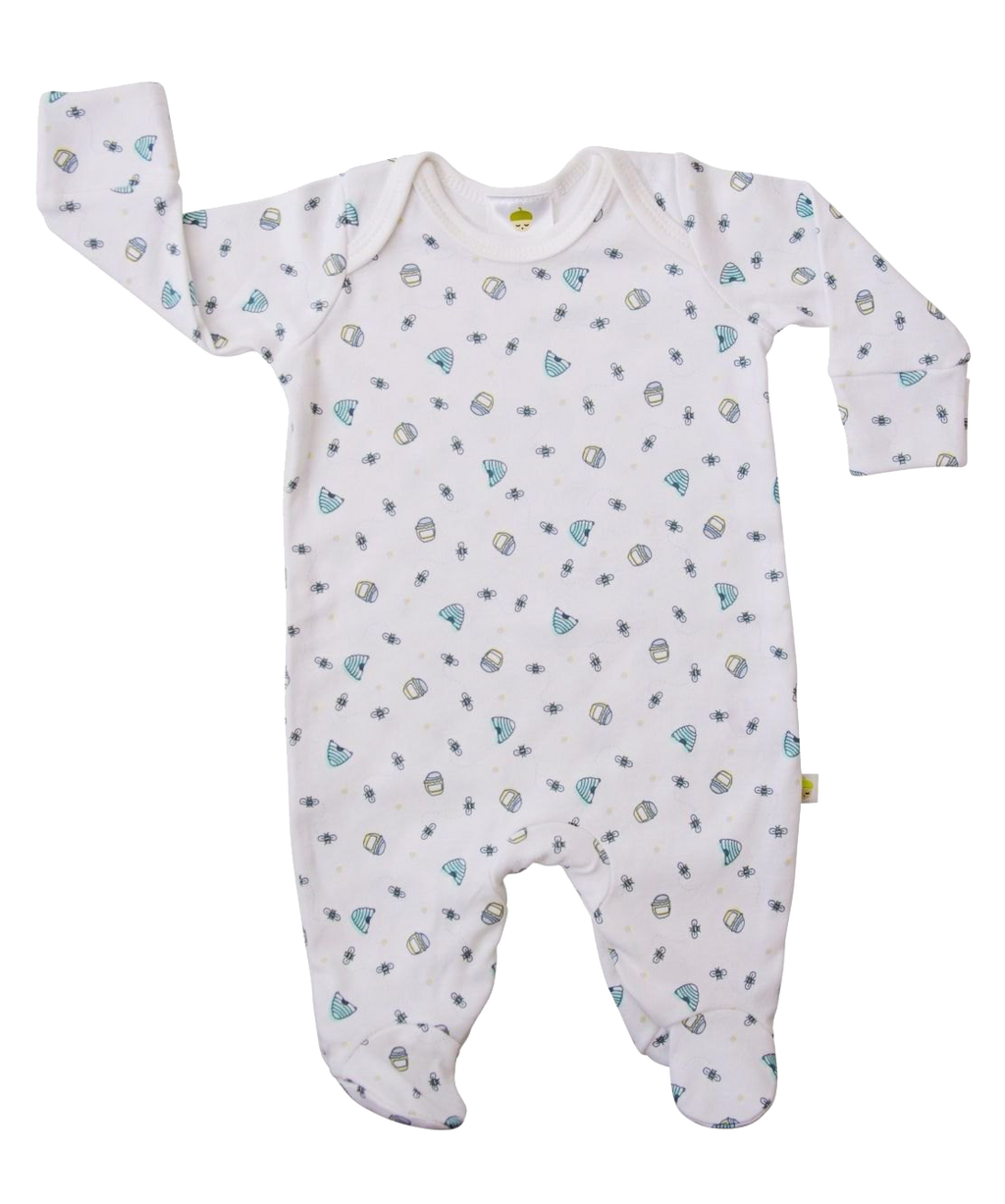 White Honey Bee Onesie - Little Branches Boutique