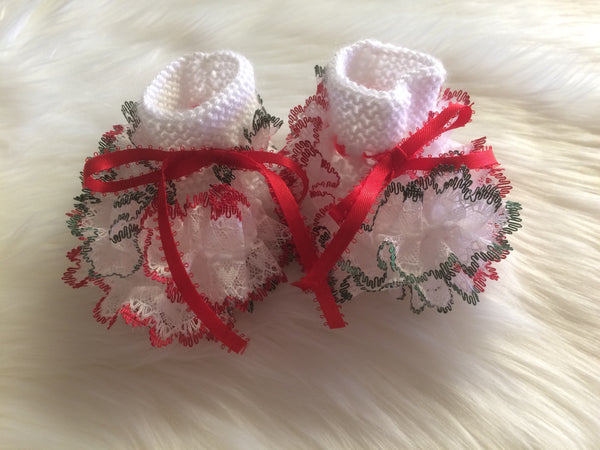 Christmas Baby Booties - Little Branches Boutique